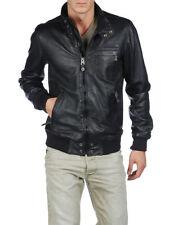 Diesel Leather Bomber, Harrington Coats & Jackets for Men