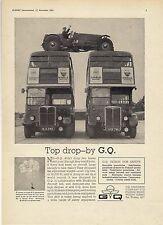 Old Magazine Advert ~ GQ Parachutes - London AEC Regent Buses RT423 & 1482: 1962