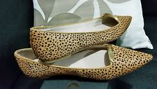 ♡♡♡ New MIMCO Honey Print Ballet Flats Leather Shoes Sandals Size 36 Or 5
