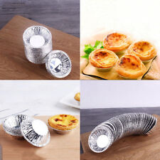 250 pcs Disposable Aluminum Foil Tart Pie Pans Egg Tar Mold Kitchen Baking Tool