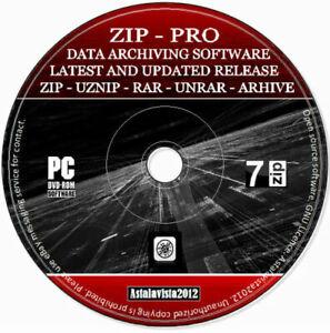 7 Zip Unpack Unzip Any File - Rar WinRAR WinZIP Archiving Compression Software