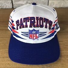 RARE Vintage 90s New England Patriots NFL Logo Athletic Diamond Snapback Hat Cap