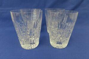 4 Bleikristall Wassergläser, handgeschliffen
