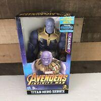 "Marvel Avengers Infinity War Titan Hero Series Thanos 12"" Action Figure NIP"