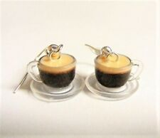 Kawaii Food Jewelry Coffee Earrings Miniature Food Earrings Coffee Lover