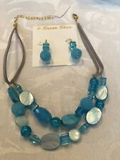 New Susan Shaw Necklace And Earrings Set ~ Fashion Jewelry ~ Made In USA