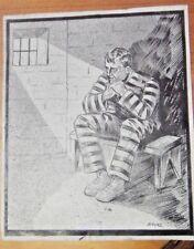 ZARO ORIGINAL ART ILLUSTRATION CRIME PULP SIGNED ARGENTINA 1920