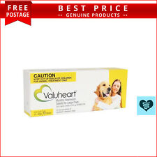 VALUHEART for Dogs 6 Doses Monthly Heartworm Control 21 to 40 Kg GOLD