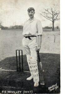 Cricket Postcard - F.E. Woolley, Kent. 1909.
