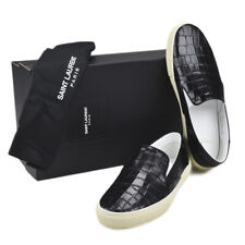 SAINT LAURENT Paris Men's Krokoprägung Slip-on Sneakers black Gr. 45 NEU BOX