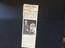 c3-2 ephemera 1950 margate wedding mr a tyler miss g wiltshire article