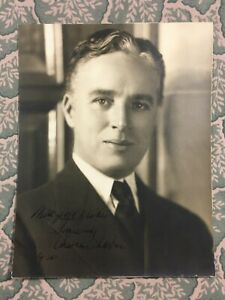Charlie Chaplin Autographed Signed ? Sepia Photograph 1936