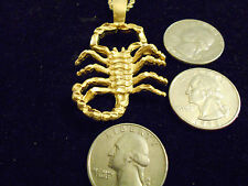 bling gold plated insect scorpion zodiac astrology charm chain hip hop necklace
