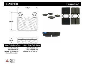 Disc Brake Pad Set-C-TEK Metallic Brake Pads Front,Rear Centric 102.00960