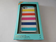 Kate Spade Protective Hardshell Case for iPhone 7 Candy Stripe Multi /
