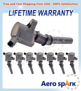 Set of 8 Ignition Coils For Ford F150-F550 Mustang Excursion Marquis DG508