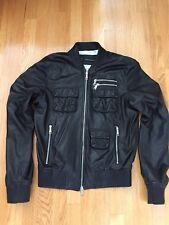 Dsquared2 Authentic mens black leather jacket -size IT 48