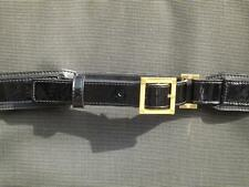 """Tory Burch Patent Leather Belt Square Buckle Size Small 36"""" Long"""