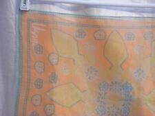 Vera Neumann Scarves by Vera VeraSheer Angular Leaves & Round Flowers in Orange