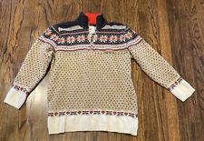 Women's Sweater Ski 100% Fleece Wool Eu 40 Sm Vintage Silva 1/4 Zip Italy Warm!
