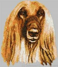 Large Embroidered Zippered Tote - Afghan Hound Dle3658