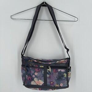 LeSportsac Everyday Bag Purse Colorful Floral Print Crossbody Adjustable Strap