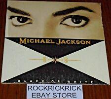 MICHAEL JACKSON - BLACK OR WHITE -2 TRACK CD- (GUITAR PERFORMANCE BY SLASH)