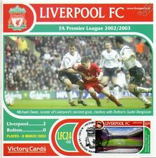 Liverpool 2002-03 Bolton W. (Michael Owen) Football Stamp Victory Card #224
