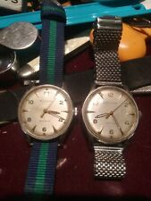 Pair Of Mens 1950's Bulova DouWind Automatic Watches, Working