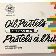 GRUMBACHER Professional Oil Pastel Sticks,Set of 47 Unused, Made in Japan