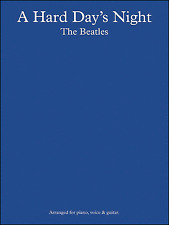 A Hard Day's Night The Beatles Sheet Music Book Piano Vocal Guitar Shop Soiled