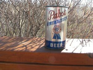 PABST Blue Ribbon IRTP Old Flat Top Beer Can