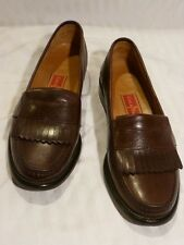 Cole Haan City Brown Keltie Leather Penny Loafers,  Size 8 1/2M