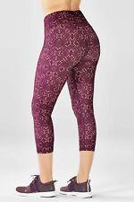 BNWT FABLETICS XS 8 Crop Leggings Midrise Powerlite Capri purple burgundy yoga