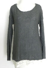 Hippie Rose Sweater Tunic Long Sleeve Lace Hem Dried Sage Size M