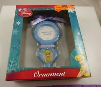 Disney ornament Tinkerbell Christmas photo frame blue
