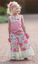 NWT Persnickety Pocket Full Posies Lou Lou Floral Top & Gaucho Pant Outfit sz 8