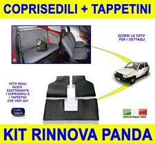 Per Fiat Panda Young Fodere Coprisedili tappetini in gomma set foderine sedili