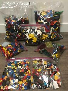 Lego 10 Lbs Bricks/Plates/Cars/Batman/City/Building Pieces 30+ Minifigures