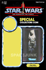 STAR WARS: POWER OF THE FORCE Han Solo Carbonite (1985) Repro Kenner Cardback