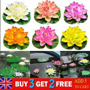 18cm Artificial Lotus Flowers Water Lily Fake Plants Floating For Swimming Pool