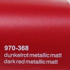 18,41€/m ² 0,5m m x 1 ,52m Oracal 970ra OSCURO Rot metálico mate 368 Película