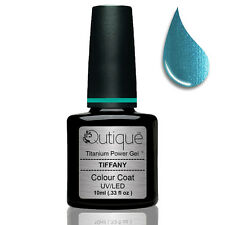 QUTIQUE Gel Nail Polish Colour -TIFFANY -UV & LED -teal/blue/green