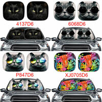 Cute Animal Cat Design Car Sunshades for Windshield Foldable UV Ray Protection 2