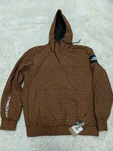 The North Face Windwall Pullover Men Large NWT All-over Hood Anorak Carmel Cafe