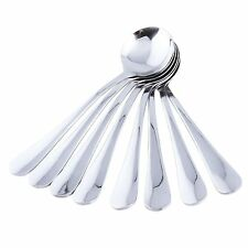 MIU COLOR Round Soup Spoons - Table Large Spoons with Stainless Steel Set of 8