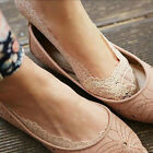 Women Invisible No Show Nonslip Loafer Lace Boat Liner Low Cut Cotton Socks
