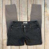 Free People Women's Skinny Jeans Ombre Cropped Stretch Denim Graphite Gray 25