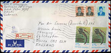Indonesia 1984 Registered Air Mail Cover To England #C30745