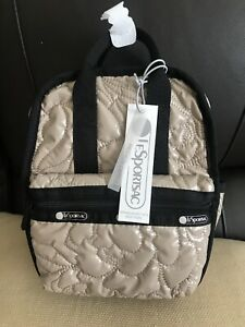 LeSportSac Gabrielle Micro Backpack Nude Patent Purse Bag